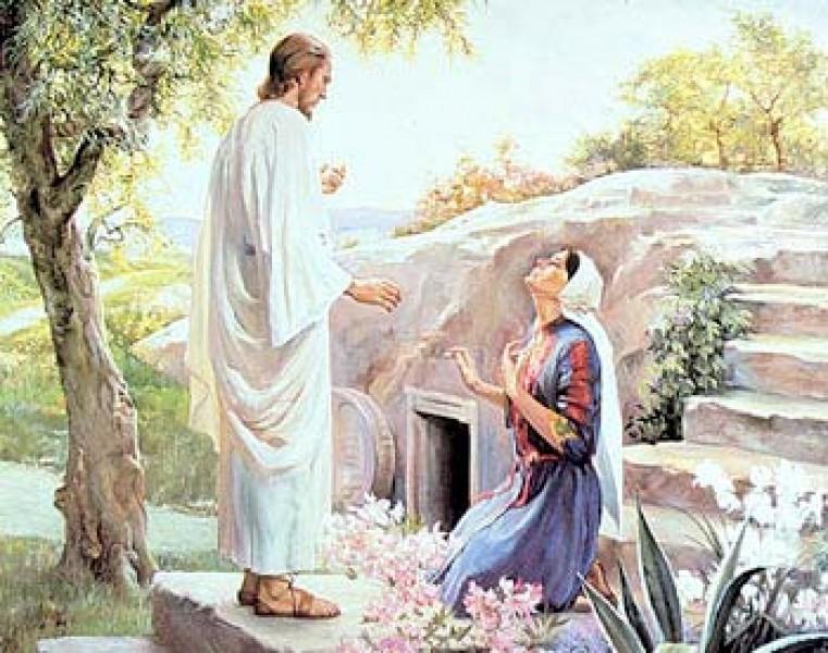 Jezus przy swoim grobie